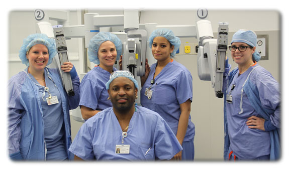 Dr Richardson with his surgical team